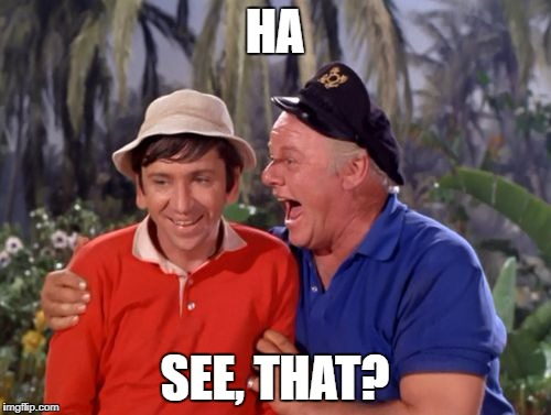 gilligan | HA SEE, THAT? | image tagged in gilligan | made w/ Imgflip meme maker