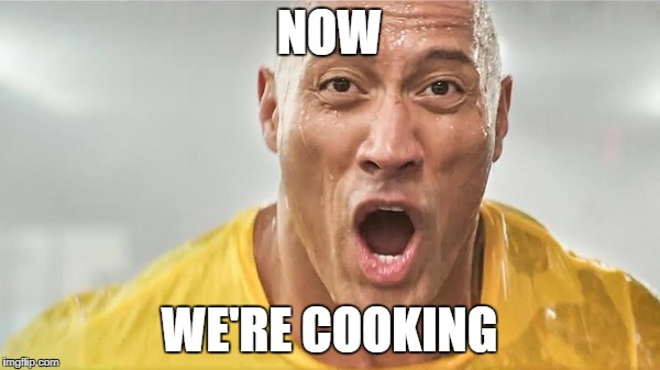 wet rock | NOW WE'RE COOKING | image tagged in wet rock | made w/ Imgflip meme maker