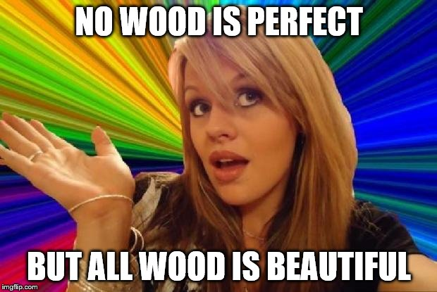 NO WOOD IS PERFECT BUT ALL WOOD IS BEAUTIFUL | made w/ Imgflip meme maker