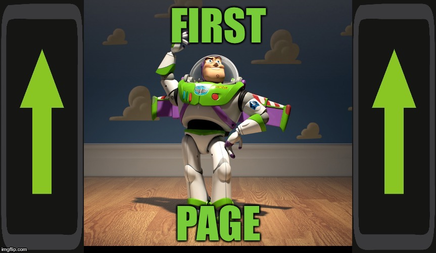 Excellente Buzz Light Year | FIRST PAGE | image tagged in excellente buzz light year | made w/ Imgflip meme maker