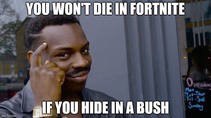 Roll Safe Think About It Meme | YOU WON'T DIE IN FORTNITE IF YOU HIDE IN A BUSH | image tagged in memes,roll safe think about it | made w/ Imgflip meme maker