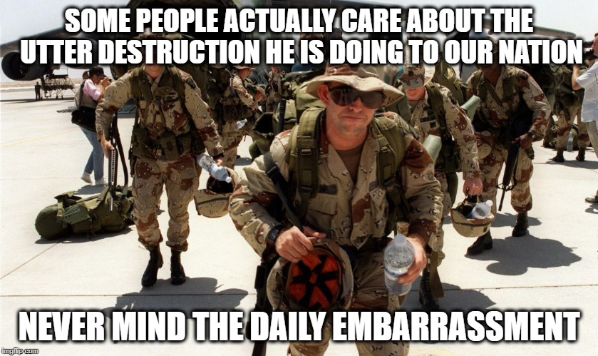Military Spending | SOME PEOPLE ACTUALLY CARE ABOUT THE UTTER DESTRUCTION HE IS DOING TO OUR NATION NEVER MIND THE DAILY EMBARRASSMENT | image tagged in military spending | made w/ Imgflip meme maker