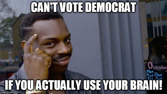 Roll Safe Think About It Meme | CAN'T VOTE DEMOCRAT IF YOU ACTUALLY USE YOUR BRAIN! | image tagged in memes,roll safe think about it | made w/ Imgflip meme maker