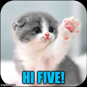 HI FIVE! | made w/ Imgflip meme maker