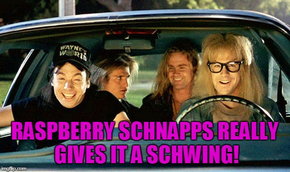 RASPBERRY SCHNAPPS REALLY GIVES IT A SCHWING! | made w/ Imgflip meme maker