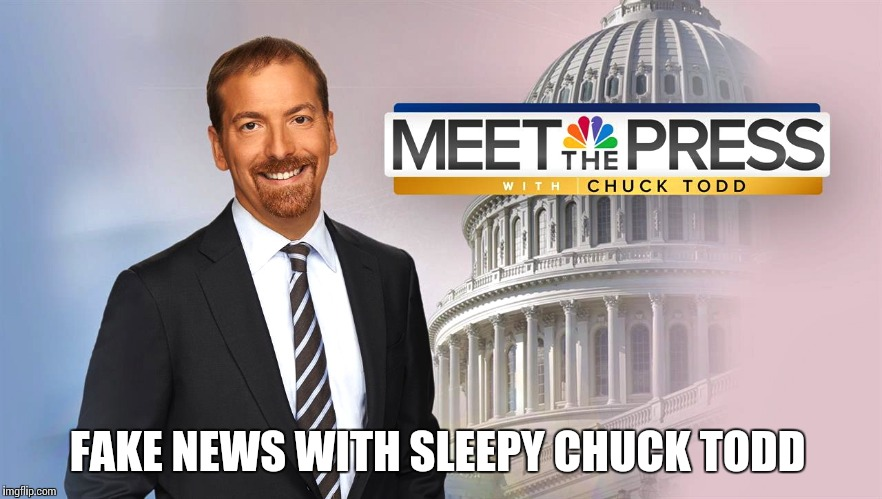 FAKE NEWS WITH SLEEPY CHUCK TODD | image tagged in meet the depressed with chuck todd | made w/ Imgflip meme maker