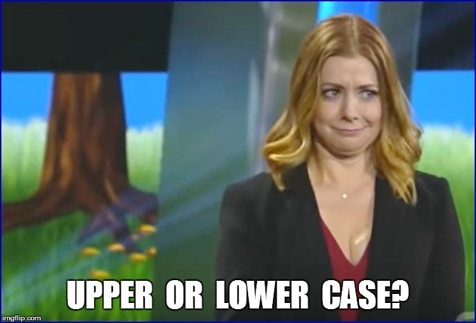 UPPER  OR  LOWER  CASE? | made w/ Imgflip meme maker