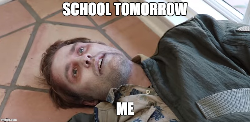 Garrett Warts being dead | SCHOOL TOMORROW ME | image tagged in shane,shane dawson,dead,youtube,content | made w/ Imgflip meme maker