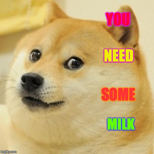Doge Meme | YOU NEED SOME MILK | image tagged in memes,doge,scumbag | made w/ Imgflip meme maker