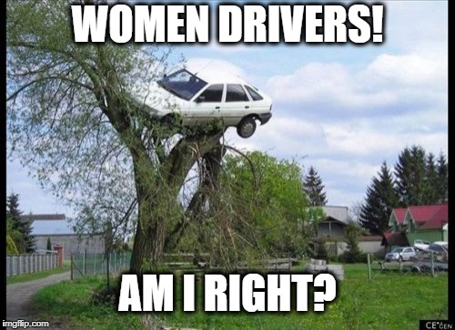 am i rite? | WOMEN DRIVERS! AM I RIGHT? | image tagged in memes,secure parking,women,drivers,car,driving | made w/ Imgflip meme maker