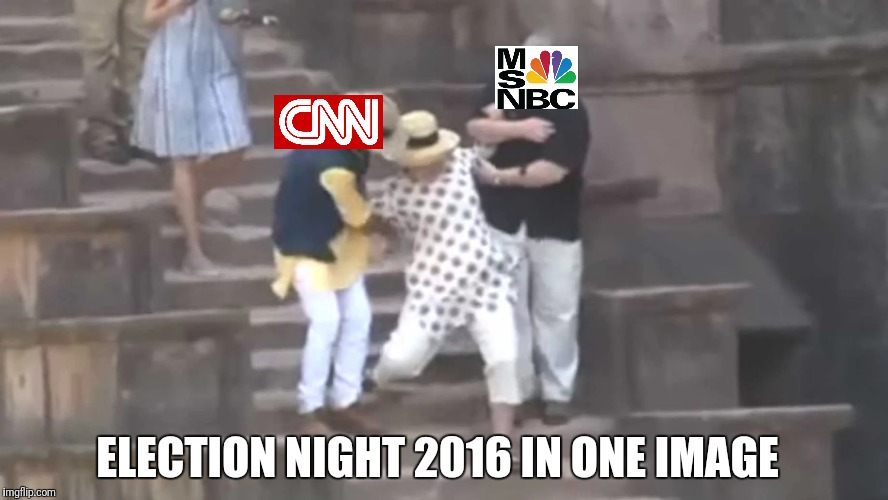 Hillary Fall | ELECTION NIGHT 2016 IN ONE IMAGE | image tagged in donald trump | made w/ Imgflip meme maker