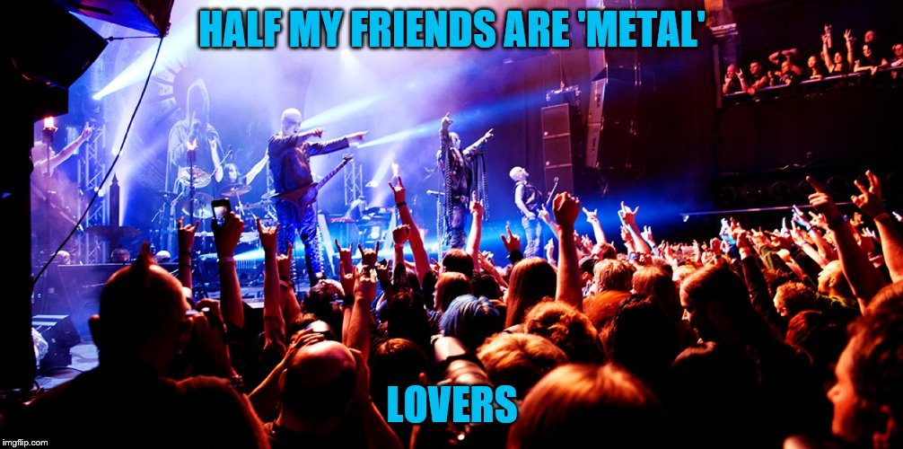 HALF MY FRIENDS ARE 'METAL' LOVERS | made w/ Imgflip meme maker