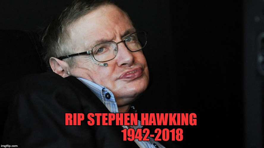 Today we lost a Legend  | RIP STEPHEN HAWKING                 1942-2018 | image tagged in steven hawkings | made w/ Imgflip meme maker