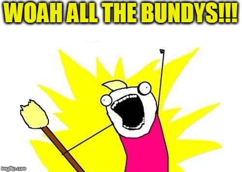 X All The Y Meme | WOAH ALL THE BUNDYS!!! | image tagged in memes,x all the y | made w/ Imgflip meme maker