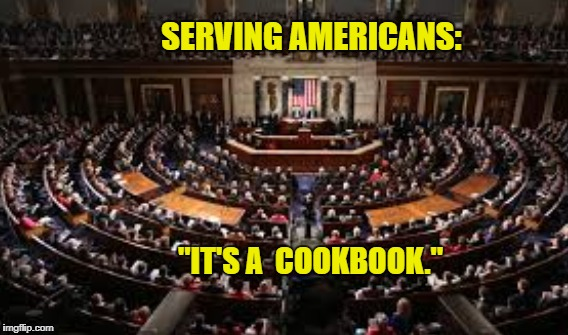 "Recipe for Disaster | SERVING AMERICANS: ""IT'S A  COOKBOOK."" 