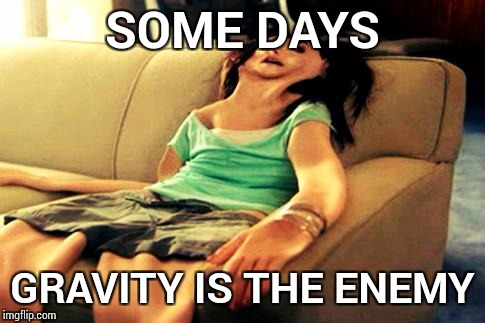 flat girl | SOME DAYS GRAVITY IS THE ENEMY | image tagged in flat girl | made w/ Imgflip meme maker