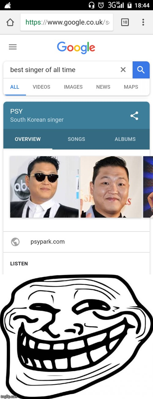 PSY week, 10-28th March, the first ever Meme_Kitteh event! | image tagged in psy week,memes,funny,psy,google images,troll face | made w/ Imgflip meme maker