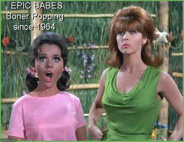 Happy Gilligan's Island Week- B-Babes | image tagged in ginger,mary ann,gilligans island week,hot babes,lol so funny,funny memes | made w/ Imgflip meme maker