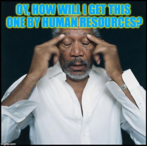 OY, HOW WILL I GET THIS ONE BY HUMAN RESOURCES? | made w/ Imgflip meme maker