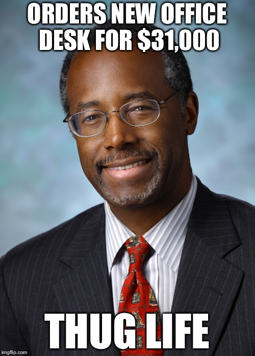 Desk Meme: Image Tagged In Confused Ben Carson,memes