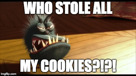 WHO STOLE ALL MY COOKIES?!?! | image tagged in kyle despicable me | made w/ Imgflip meme maker