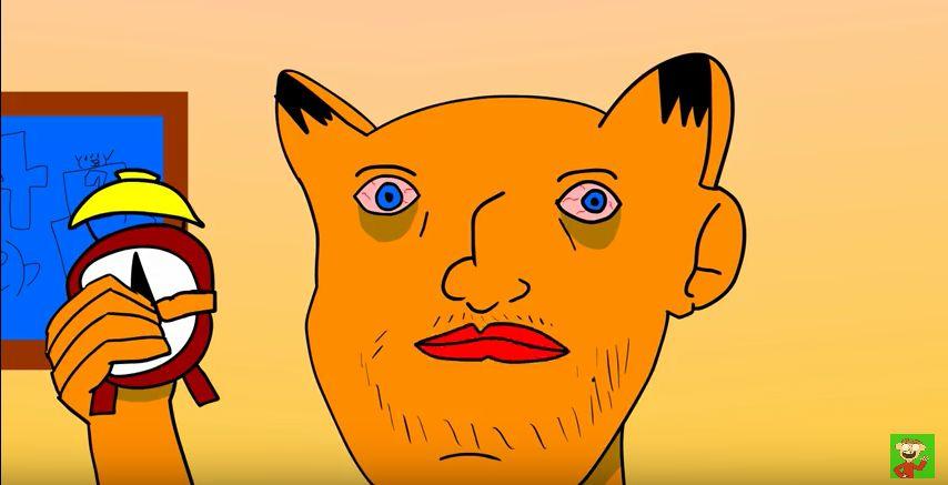 Garfield N Clock Blank Template Imgflip