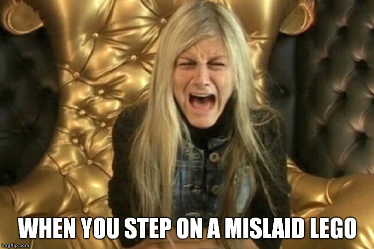 Upset Nikki | WHEN YOU STEP ON A MISLAID LEGO | image tagged in big brother,nikki,nikki grahame,reality tv,upset,upset nikki | made w/ Imgflip meme maker