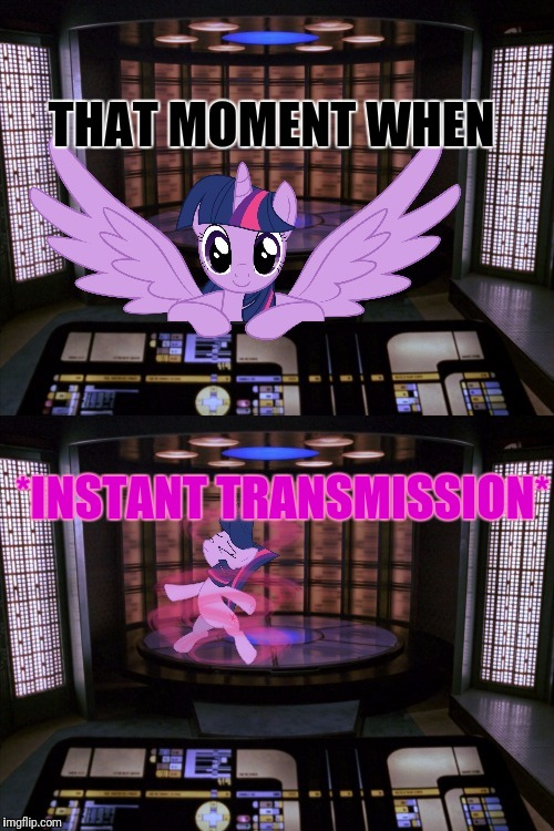 THAT MOMENT WHEN *INSTANT TRANSMISSION* | made w/ Imgflip meme maker