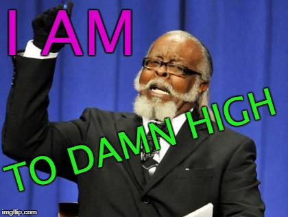 Too Damn High Meme | I AM TO DAMN HIGH | image tagged in memes,too damn high | made w/ Imgflip meme maker