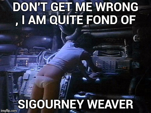 Ripley's butt | DON'T GET ME WRONG , I AM QUITE FOND OF SIGOURNEY WEAVER | image tagged in ripley's butt | made w/ Imgflip meme maker