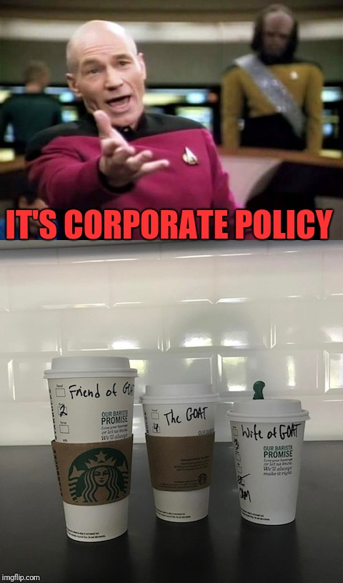 IT'S CORPORATE POLICY | made w/ Imgflip meme maker