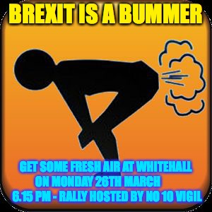 Caution! Toxic!  | BREXIT IS A BUMMER GET SOME FRESH AIR AT WHITEHALL ON MONDAY 26TH MARCH         6.15 PM - RALLY HOSTED BY NO 10 VIGIL | image tagged in caution toxic | made w/ Imgflip meme maker