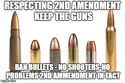 RESPECTING 2ND AMENDMENT KEEP THE GUNS BAN BULLETS - NO SHOOTERS-NO PROBLEMS 2ND AMMENDMENT IN TACT | image tagged in bullets | made w/ Imgflip meme maker