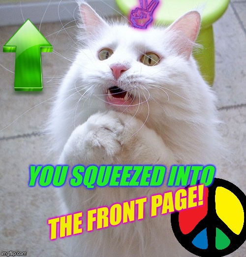 YOU SQUEEZED INTO THE FRONT PAGE! | made w/ Imgflip meme maker