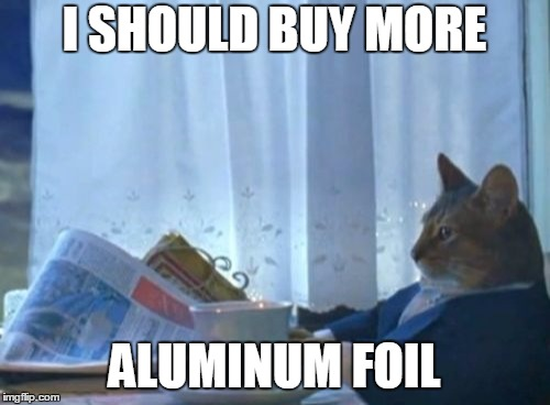 I SHOULD BUY MORE ALUMINUM FOIL | made w/ Imgflip meme maker