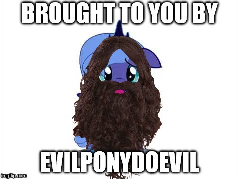 BROUGHT TO YOU BY EVILPONYDOEVIL | made w/ Imgflip meme maker