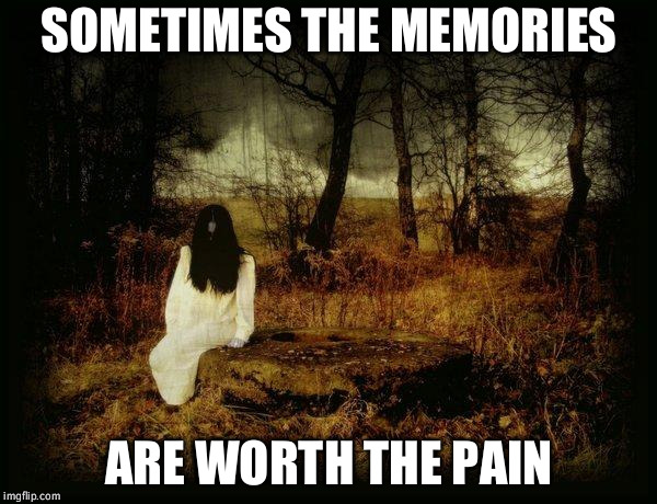 Memories | SOMETIMES THE MEMORIES ARE WORTH THE PAIN | image tagged in pain,worth,memories | made w/ Imgflip meme maker