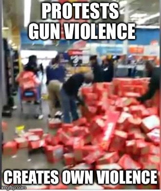 PROTESTS GUN VIOLENCE CREATES OWN VIOLENCE | made w/ Imgflip meme maker