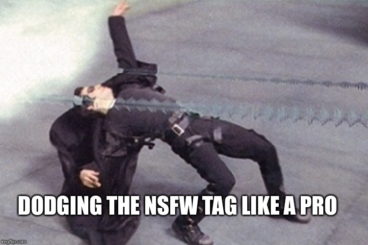 DODGING THE NSFW TAG LIKE A PRO | made w/ Imgflip meme maker