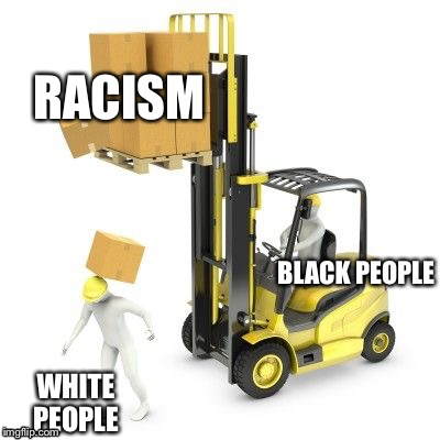 If your racist downvote this | BLACK PEOPLE WHITE PEOPLE RACISM | image tagged in no racism | made w/ Imgflip meme maker