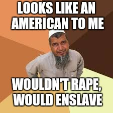 LOOKS LIKE AN AMERICAN TO ME WOULDN'T **PE, WOULD ENSLAVE | made w/ Imgflip meme maker