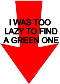 I WAS TOO LAZY TO FIND A GREEN ONE | made w/ Imgflip meme maker