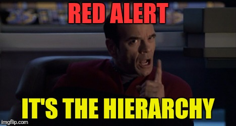RED ALERT IT'S THE HIERARCHY | made w/ Imgflip meme maker