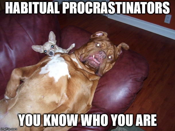Procrastination Is Keeping You Waiting | HABITUAL PROCRASTINATORS YOU KNOW WHO YOU ARE | image tagged in procrastination,procrastinate,procrastinate today panic tommorow,why do today what you can put off for the marrow,catch me next | made w/ Imgflip meme maker