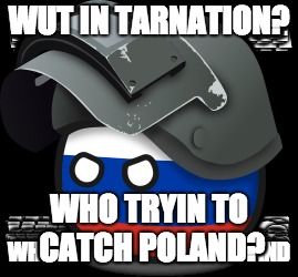 WUT IN TARNATION? WHO TRYIN TO CATCH POLAND? | made w/ Imgflip meme maker