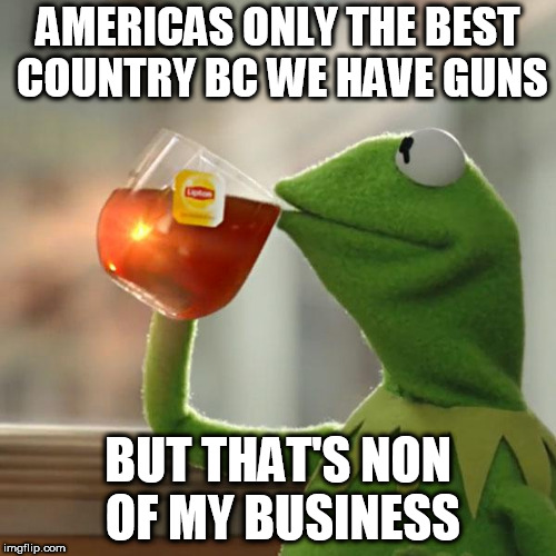 But Thats None Of My Business Meme | AMERICAS ONLY THE BEST COUNTRY BC WE HAVE GUNS BUT THAT'S NON OF MY BUSINESS | image tagged in memes,but thats none of my business,kermit the frog | made w/ Imgflip meme maker
