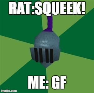 Runescape | RAT:SQUEEK! ME: GF | image tagged in runescape | made w/ Imgflip meme maker