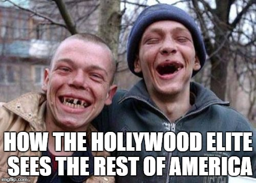 Ugly Twins Meme | HOW THE HOLLYWOOD ELITE SEES THE REST OF AMERICA | image tagged in memes,ugly twins | made w/ Imgflip meme maker