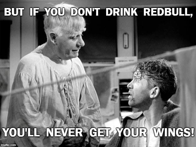 Redbull Wings | BUT  IF  YOU  DON'T  DRINK  REDBULL, YOU'LL  NEVER  GET  YOUR  WINGS! | image tagged in clarence,meme | made w/ Imgflip meme maker
