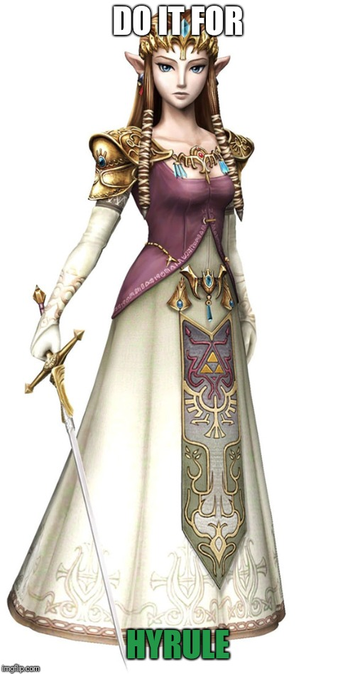 Princess Zelda | DO IT FOR HYRULE | image tagged in princess zelda | made w/ Imgflip meme maker